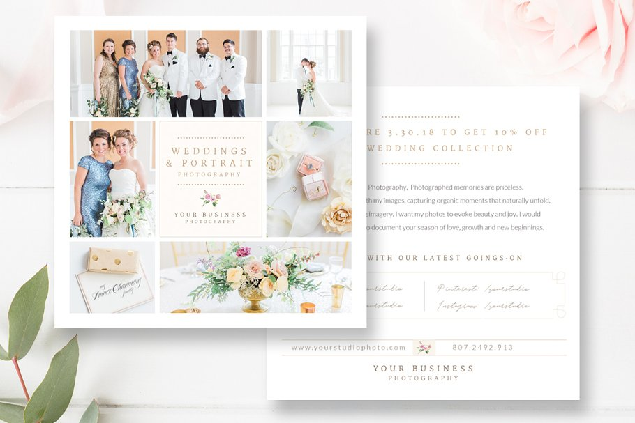 Wedding Photography Flyer Design in Flyer Templates - product preview 8