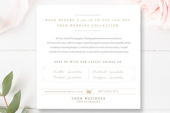 Wedding Photography Flyer Design in Flyer Templates - product preview 2