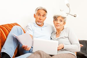 Senior Couple Don't Understand The Internet