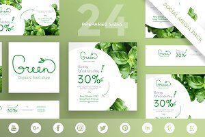 Social Media Pack | Green Shop