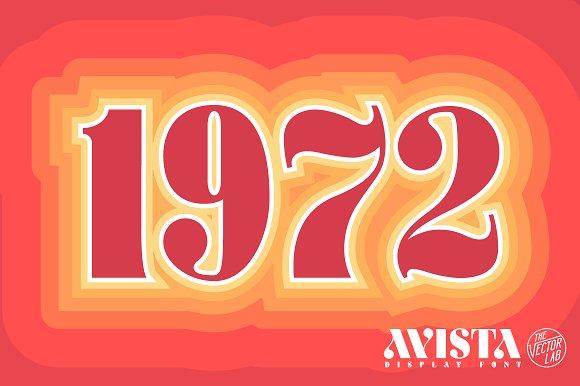AVISTA Display Font Fonts Creative Market