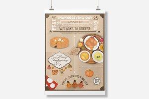 Thanksgiving Dinner Menu Card