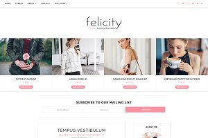 Blogger Template Responsive-Felicity