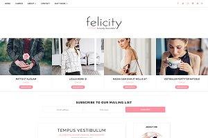 Blogger Template Responsive-Felicity