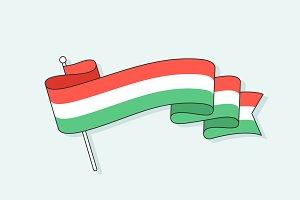 Flag with three stripe