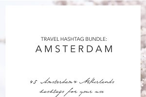 Amsterdam Holland Instagram Hashtags