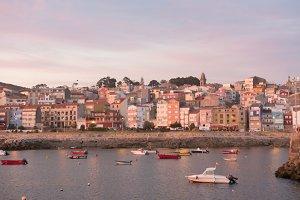 Sunset in La Guardia, Galicia, Spain