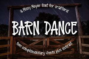 Barn Dance: a country-style font!