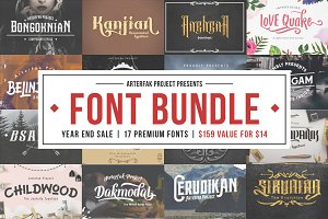 Arterfak Font Bundle II (Updated)
