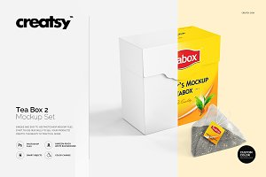 Tea Box Mockup Set 2