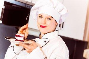 Confectioner Tasting Cake