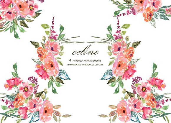 Watercolor Rustic Floral Set Illustrations Creative Market