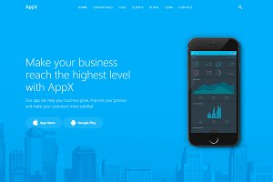 AppX - App Landing Page