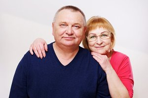 Happy mature couple portrait
