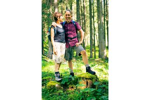 Hiking Senior Couple
