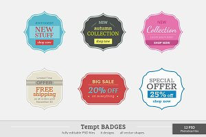 Tempt Badges