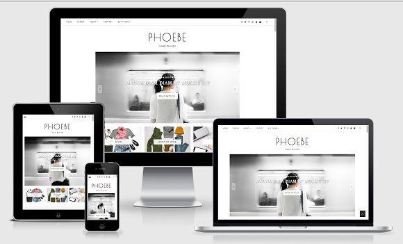 Blogger template responsive phoebe website templates blogger template responsive phoebe website templates creative market pronofoot35fo Gallery