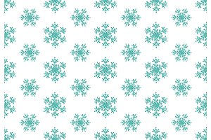 Blue snowflakes seamless pattern. Winter christmas background