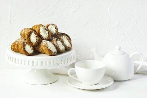 Cannoli Siciliani with ricotta cream