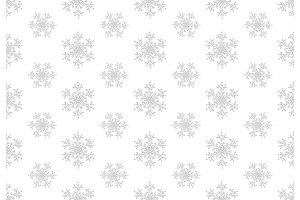 White snowflakes seamless pattern. Winter christmas background