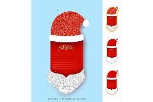 Santa Claus Paper notebook.