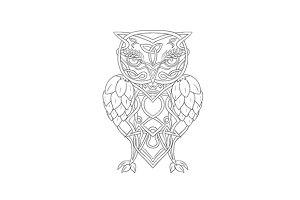 Hops and Barley Owl Celtic Knotwork