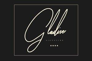 Gladise Signature Font