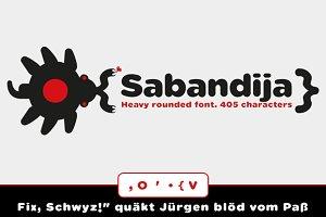 Sabandija rounded font