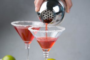 Cranberry and lime martini
