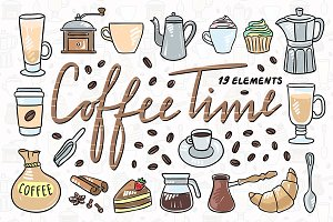 Coffee Time Illustrations + Patterns