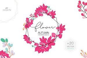 PINK FLOWER BANNER WEDDING Template