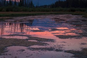 Vermillion Lakes Sunset in Banff Canada
