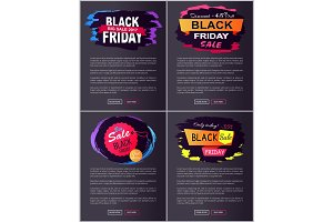 Black Friday Discount -45% Off Vector Illustration