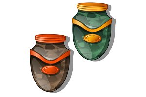 Urn for ashes. Vector illustration isolated
