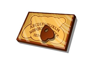 Wooden Ouija Board with English letters