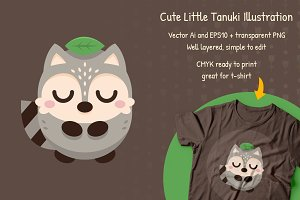 Tanuki - Cute Animal Raccoon Clipart