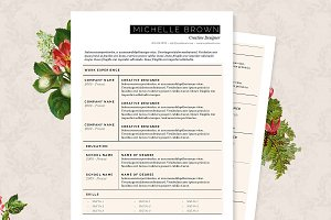 Grid Resume Template Package