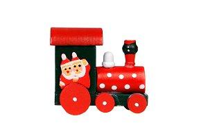 Red Christmas locomotive