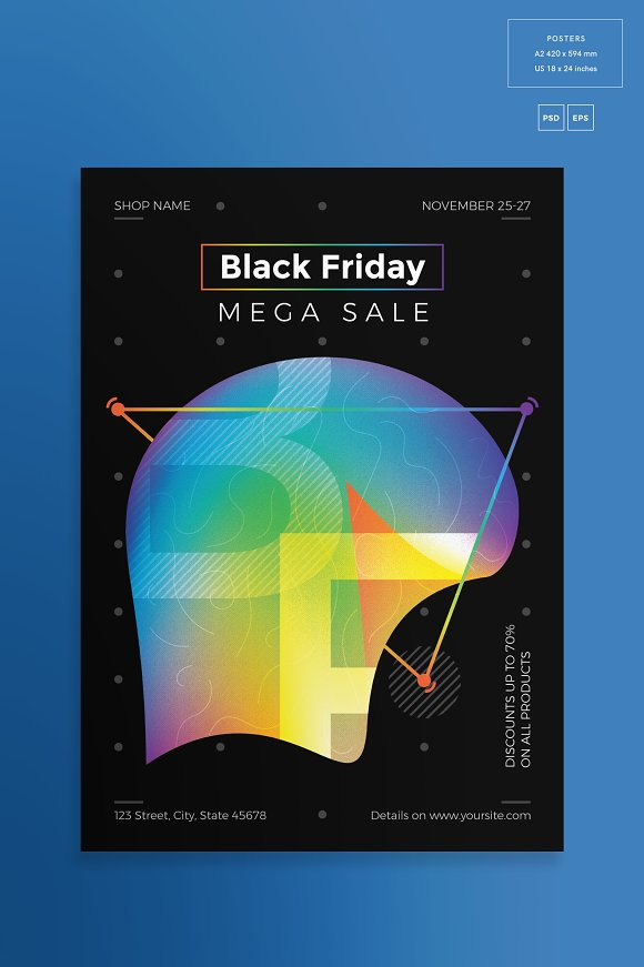 Posters | Black Friday in Flyer Templates - product preview 1