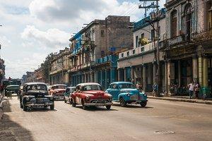 Old cars in the street of Havana