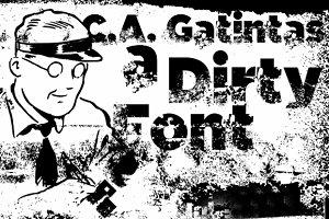 C.A. Gatintas dirty font
