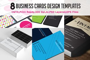 8 Creative Business Card Set