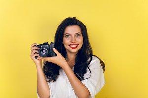 Women using camera