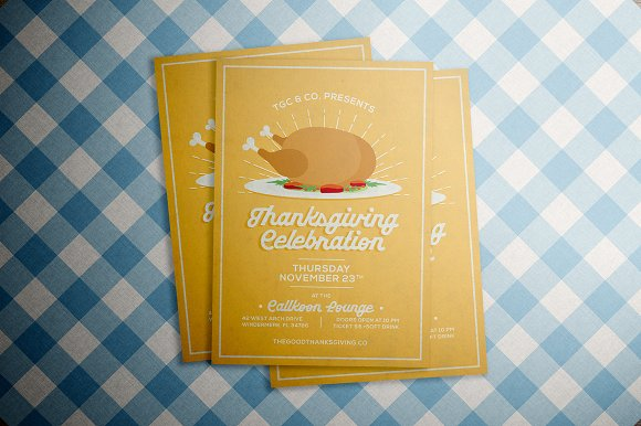 Vintage Thanksgiving Flyer in Flyer Templates - product preview 2