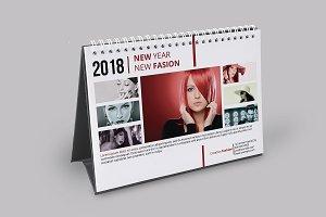 Desk Calendar Template 2018 - V11