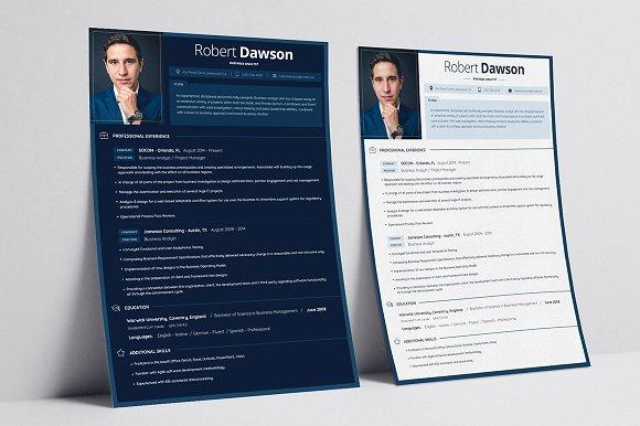 resume cv business card resume templates creative market