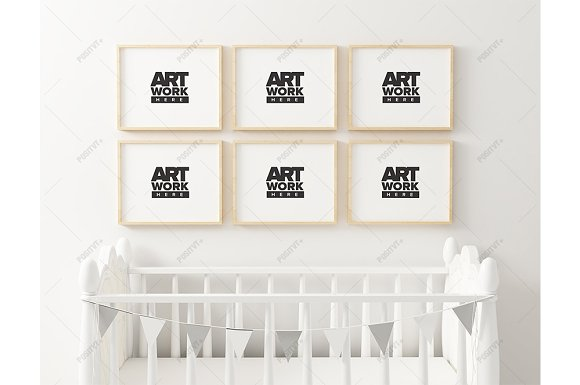 Download Nursery Frame Mockup 6 Panel