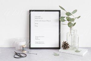 """Christmas Black 8x10"""" frame mockup"""