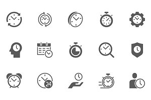 Time Management Vector Icons