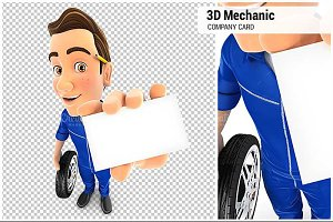 3D Mechanic Holding Company Card